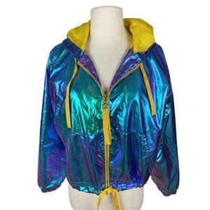 Ashley Mermaid Hologram Hooded Jacket M